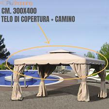 Toile Top Couverture Rechange Pour Gazebo 3X4 pour Jardin Anti Pluie PU Cheminée