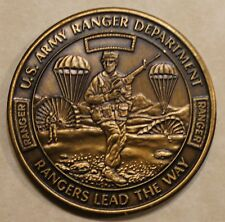 Ranger Training Department 4-Camp Training w/ Dugway Brass Army Challenge Coin
