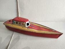 RARE VINTAGE TIN TOY BOAT MADE IN US ZONE GERMANY