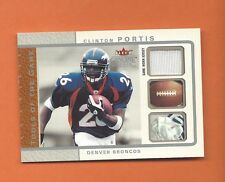 2003 FLEER GENUINE TOOLS OF THE GAME CLINTON PORTIS GAME-WORN JERSEY #d 173/199