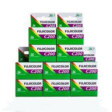 Neues Angebot10x Fujicolor C 200 36 Aufnahmen Farbfilm Kleinbild Film Fuji 02/2022