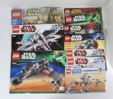 Lot of 10 Lego Star Wars Instructions/Manuals X-Wing Fighter Boba Fett's Ship