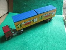 MATCHBOX SCAMMELL TRUCK & TRAILER WITH CONTAINER LOAD (LOT K7)