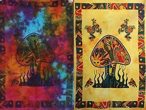 2 piece Mushroom Tapestry Bohomen Indian Wall Hanging Wholesale (77cmX102cm)MY-5