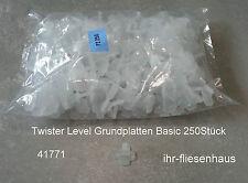 Nivelliersystem Twister level 250 unidades placas de fondo BASIC para 3-12mm 1,7mm steg
