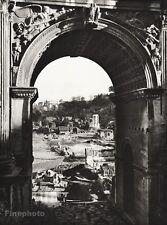 1934 Vintage 11x14 ITALY Roman Triumphal Arch Architecture Landscape ~ HURLIMANN