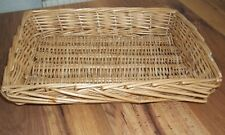 Wicker:Cane:Tray:Basket:Storage: