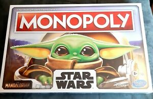 Monopoly The Child Star Wars Mandalorian Family Board Game by Hasbro/Disney NEW
