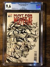 HUNT FOR WOLVERINE #1 9.6 CGC Sketch Variant Cover 1:50
