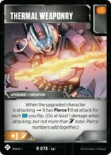 Transformers Tcg Wave 1 Rare Thermal Weaponry #078