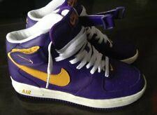 Rare Nike Air Force 1 I One AF1 Purple/Gold  Size 8 Lakers Kobe Zoom