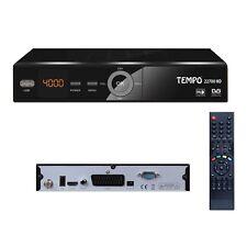TEMPO 22700 full HD SD digital Sat Receiver mit Scart und HDMI Stecker