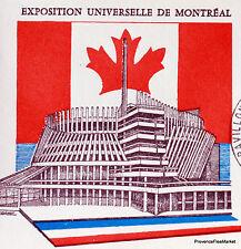 Yt 1519 A EXPOSITION DE MONTREAL   FRANCE  FDC  ENVELOPPE PREMIER JOUR