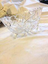 Kristal Schüssel,Schale,sehr edel,16,5 x 9cm,Handarbeit