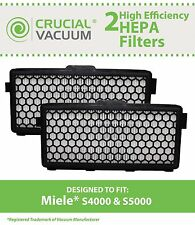 2 Replacements Miele Vacuum S4000 & S5000 HEPA Filters Part # SF AH50
