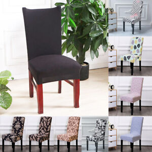 Removable Elastic Stretch Slipcovers Short Dining Room Chair Seat Cover Decor AU