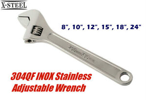 304QF INOX Stainless Steel Adjustable Wrench Spanner Shifter Resist Corrosion