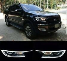 Ford Ranger PX2 Everest Headlight Covers With LED DRL 2015 to 2018 Wildtrak XLT