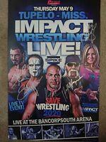 TNA Impact Wrestling Signed Event Poster (Hulk Hogan, Sting, Kurt Angle)