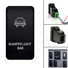 """40mm *20mm """" BUMPER LIGHT BAR """"12V Push Switch White LED Light For Toyota Series"""