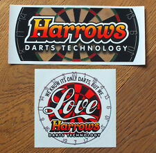 2 Aufkleber Sticker Harrows Darts (S143)