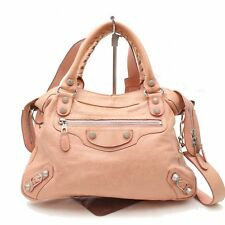 Authentic Balenciaga Hand Bag Giant Town Pinks Leather 267145