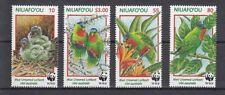 D. Bird Niuafo 'Ou ´ Ou 326 - 29 Blaukappenlori Parrots Wwf (MNH)