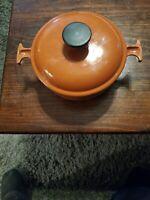 Le Creuset Enzo Mari La Mama Burnt orange / brown  #17 Covered Casserole vintage