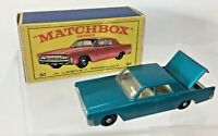 Vintage Matchbox Lesney 31c - Lincoln Continental - Boxed - Nr Mint