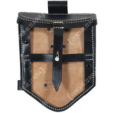 German Folding Shovel Cover Type I - WW2 Reproduction Spade Carry Pouch Black
