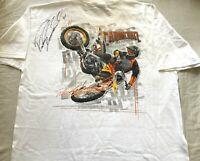 Ricky Carmichael signed autographed autograph auto motocross supercross T-shirt