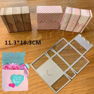 Stanzschablone Cutting Dies Pralinenschachtel Geschenk 3D Box Schachtel Prägen