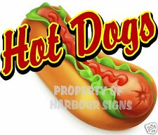 14 Hot Dogs Decal Concession Food Truck Cart Restaurant Vinyl Menu Sign Sticker