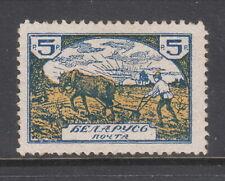 BELARUS 1920s Cinderella Private Issue Stamp, 5 rub, MINT, $30