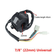 22mm Universal Motorcycle Handlebar Control Headlight Turn Signal Horn Switch