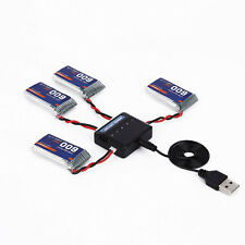 4x 3.7V 600mAh Battery +5in1 Charger Set For Syma X5SC X5SW Drone RC Quadcopter