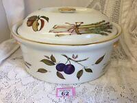 Large C4 Porcelain Royal Worcester Evesham Tureen & Lid 31x24x18cm VGC