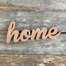 "Cursive Script Home Wood Lettering Sign Decor 15.5"" Long 6"" Tall"