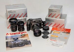 Mamiya 7 Camera 65mm, 80mm and 150mm Lens EXCELLENT Condition
