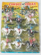 Unopened Hong-Kong 1980s Indians and cowboys Toy soldier set Swoppet