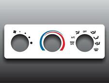 2001-2003 Ford Ranger White Heater Control Switch Overlay HVAC
