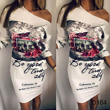 Womens White Short Mini Dress Casual Beach Summer Evening Party Holiday Sundress