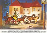 Art Postcard, Lioness attacking Horse of Exeter Mail Coach @ Winterslow 1816 45S