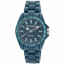 Haurex Italy Men's B7366UB2 Aston Teal Ceramic Bezel Tachymeter Watch