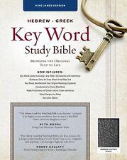 Hebrew Greek Key Word Study Bible - KJV (2009, Black Bonded Leather)
