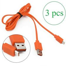 Orange USB Charger Cable Cord for JBL 3 PCs/lot