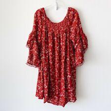 New Women's Plus Size Red Floral Dress Sizes 1X 2X 3X NWT