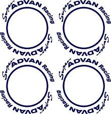 "SUPER ADVAN RACING 15"" SA3R Ruota Centro Ring Decalcomanie Adesivi x4"