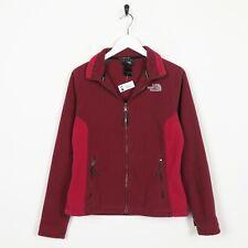 Vintage Women's THE NORTH FACE Small Logo Zip Up Fleece Top Pink | Medium M