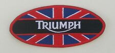 TRIUMPH MOTORCYCLES OVAL PATCH IN RED, WHITE, BLUE, AND BLACK